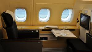 The brand new Lufthansa Airbus A380 First Class cabin a photo