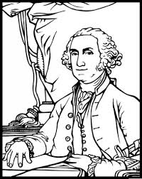 George Washington Coloring Page Color Printable President Sheets