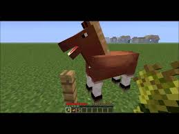 tuto minecraft comment avoir et monter sur un cheval version