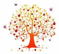 Clip Arts Related To Fall tree clipart with pink leaves