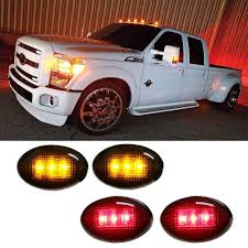 100 Truck Fenders Amazoncom IJDMTOY Smoked Lens AmberRed LED Rear Bed Side Marker