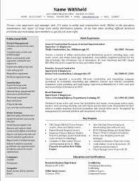 Construction Foreman Resume Examples Samples New Crew Supervisor Example Sample Resumes Of Civil