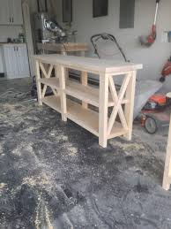 Ana White Rustic X Console Table Diy Projects Pertaining To Size 2448 3264