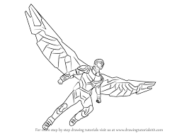Learn How To Draw Falcon From Captain America Civil War Step By Drawing Tutorials