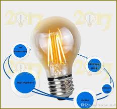 2017 classic led light bulb edison type a60 filament led bulb