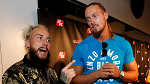 Halloween Mask William Shatners Face by Wwe U0027s Enzo Amore Big Cass Talk Sports Music Si Com