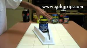 Under Cabinet Jar Opener by Sologrip One Handed Jar Opener Youtube