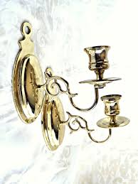candle light wall sconces brass candlelight vintage decor retro
