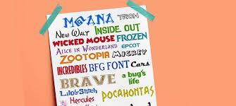 39 FREE DISNEY FONTS Moana BFG Zootopia More Favorites