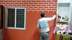 Asian paints brick texture YouTube