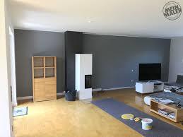 wohnzimmer neu gestrichen betonoptik kamin und wandfarbe