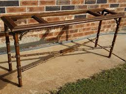 Mid Century LANE Furniture Faux Bamboo Sofa Table Oklahoma City
