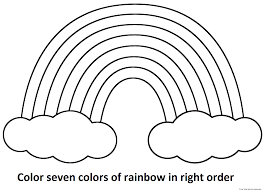 Rainbow Coloring Page With Color Words Stunning