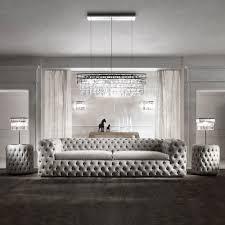 100 Modern Luxury Design Italian Sofa Tufted Nubuck Leather Sofa For Livingroom