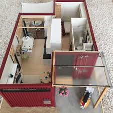 112 Scale Modern Model Houses Shipping Container House Completed