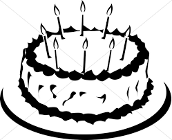 776x629 Birthday Cake Clipart in Black And White – 101 Clip Art