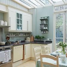 Pale Blue Kitchen Conservatory