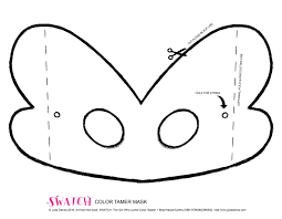 SWATCHs Color Tamer Mask So You Can Run With The Wildest Of Them Print Out Cut Decorate And ROARRR Like Yellowest Yellow