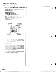 Replace The Valve On A by Honda Civic 1997 6 G Workshop Manual