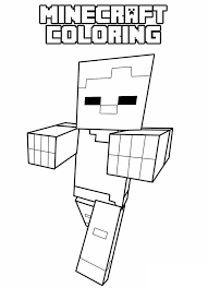 Vampire Minecraft Coloring Pages