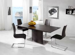 Dining Sets With Chairs Exotic Luxury Brown Top Leather Contemporary Dinette