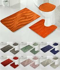 badezimmer teppiche 3 teilig badgarnitur badematte