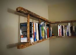 View In Gallery Old Ladder Turned Bookshelf