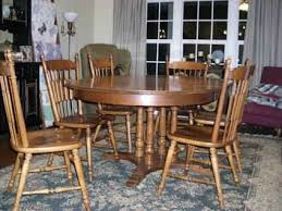300 Tell City Maple Dining Table And 6 Chairs For Sale Solid Wood