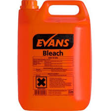 100 Evans Glass Cleaner General Purpose Bleach 5L Noble Express
