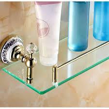 badregal glas ti pvd gold kupfer modern badezimmer garnitur