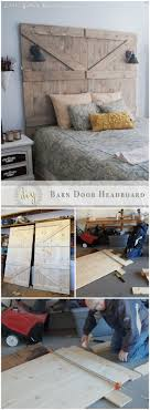 diy barn door headboard 30 creative diy headboard ideas for