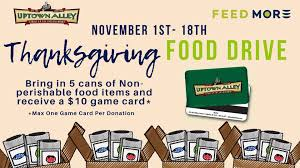 100 Game Truck Richmond Va Uptown Alley Thanksgiving Food Drive Feed More