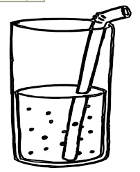 Juice clipart coloring page 11