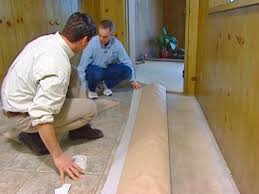 Tiling A Bathroom Floor Over Linoleum by How To Install Vinyl Flooring How Tos Diy
