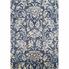 Unique Tiziano Modern Rectangular Blue Italian Rug