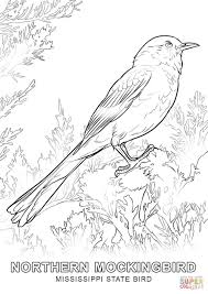 Click The Mississippi State Bird Coloring Pages