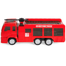 100 Toy Fire Truck Kids With Electric Flashing Lights Siren Sound Bump