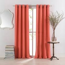 Bed Bath And Beyond Curtains Blackout by Buy Coral Curtain Panels From Bed Bath U0026 Beyond