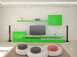modernes wohnzimmer mit möbeln im high tech stil