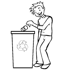 Holiday Coloring Pages Recycling Recycle Page U2013 554u00d7565 Kids