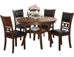 Gia 5 Piece Dining Set Table And 4 Chairs Espresso Finish