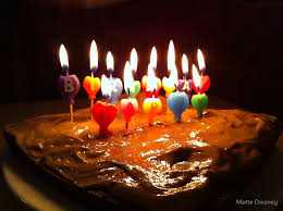 happy birthday cake with candles