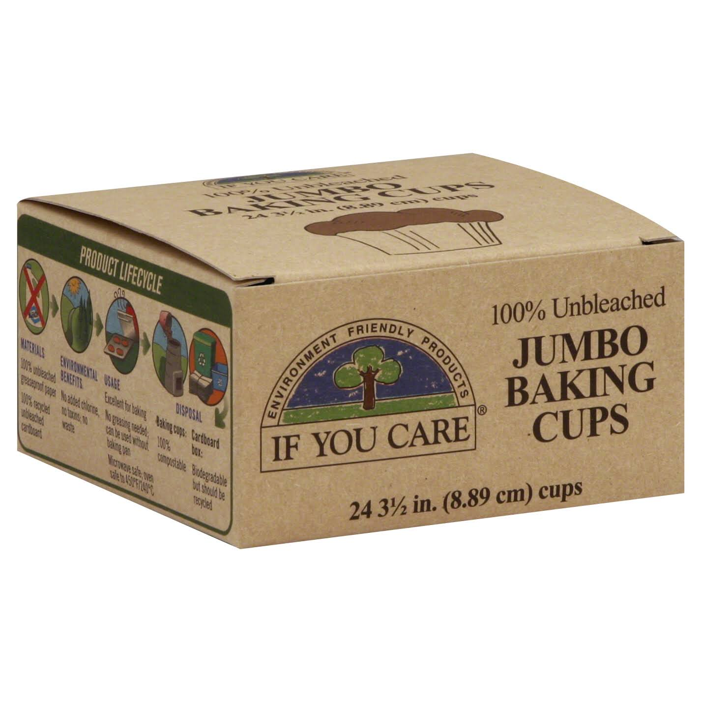 If You Care Jumbo Baking Cups - x24