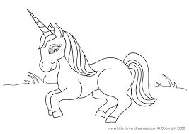 Unicorn Coloring Pages Picture Free For Kids