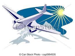 Airplane In Flight Stock Illustration