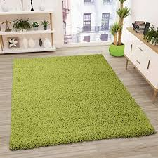 vimoda prime shaggy teppich grün hochflor langflor modern maße 70x140 cm