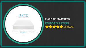 Lucid 12 Inch Memory Foam Mattress