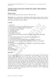 PDF JOURNALISM AND MASS COMMUNICATION THE