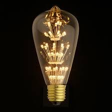 e27 led edison fireworks light bulb type s lightwithshade