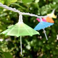 mini umbrella party string lights 10 lights